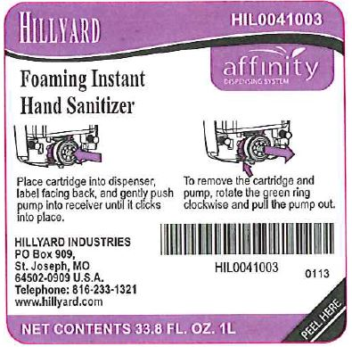 Hillyard Foaming Instant Hand Sanitizer Information Side