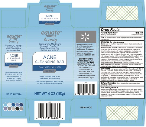 Dailymed Equate Beauty Acne Cleansing Bar Benzoyl