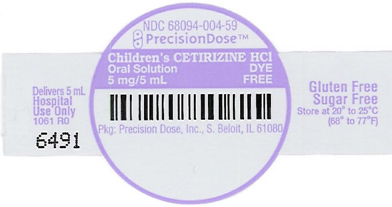 Amazon Cetirzine Hydrochloride Oral Solution 5mg: DYE FREE CHILDRENS CETIRIZINE HYDROCHOLRIDE