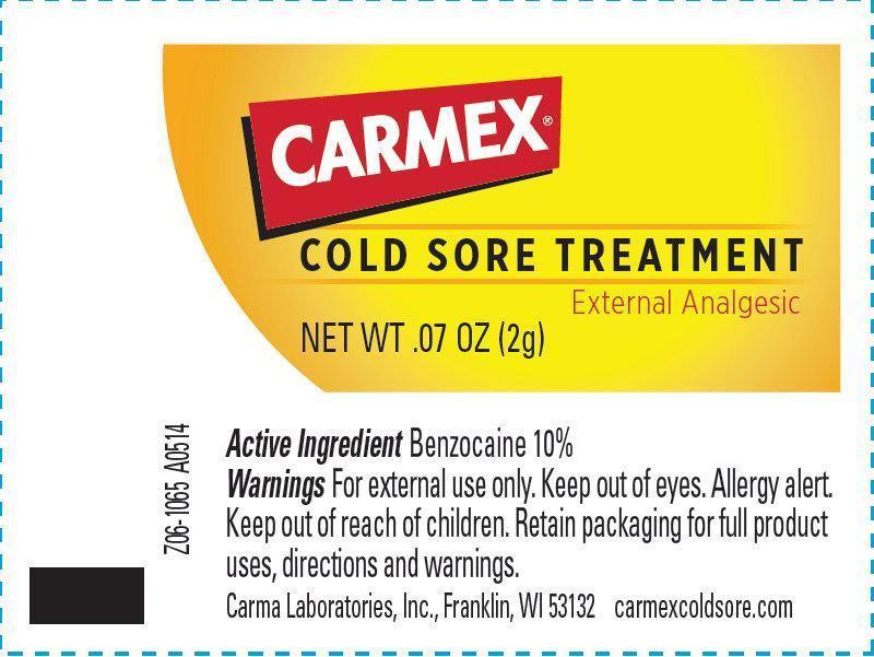 carmex cold sore treatment external analgesic information side