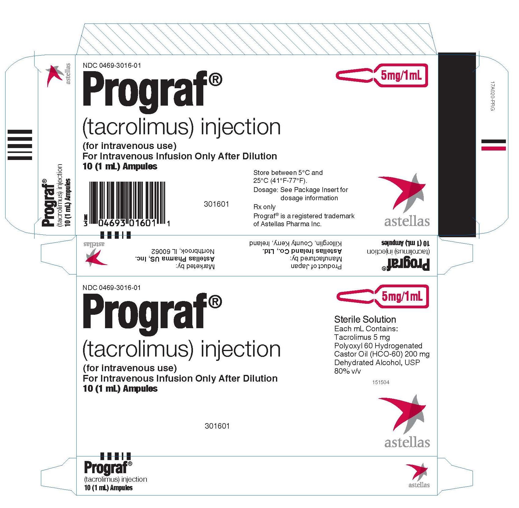 PROGRAF- Tacrolimus Capsule, Gelatin Coated