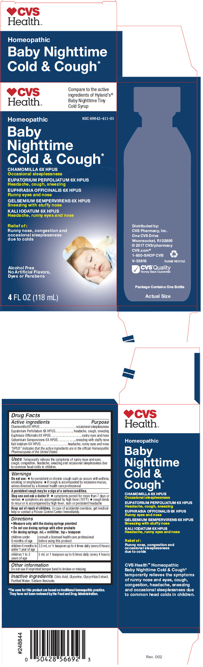 Dailymed Cvs Baby Nighttime Cold And Cough Matricaria