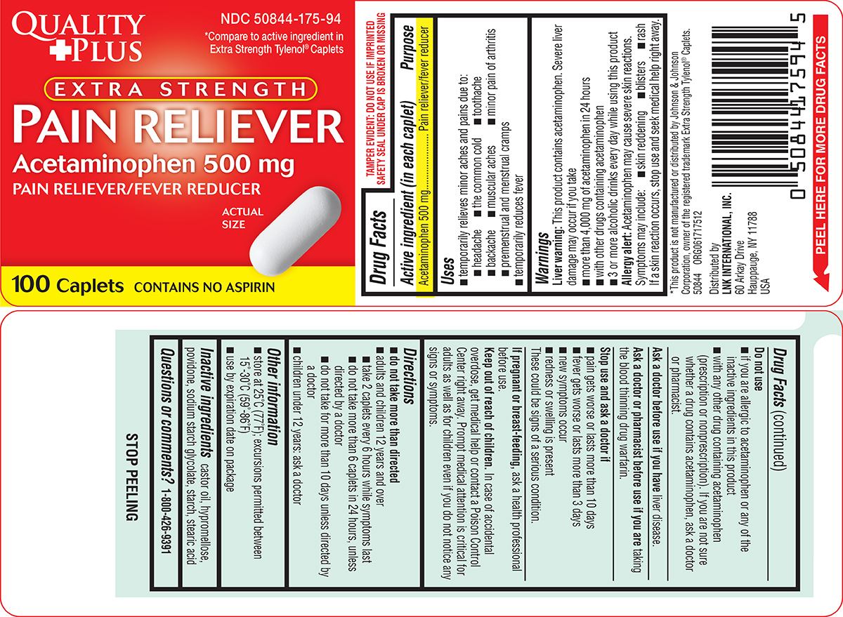 Dailymed pain reliever extra strength acetaminophen for 44 175