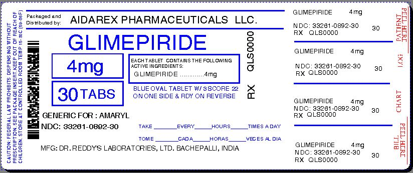 Glimepiride - FDA prescribing information, side effects ...