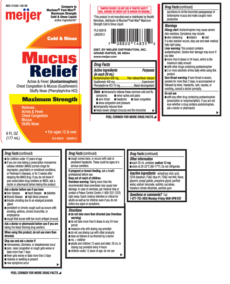 Side effects of mucus relief