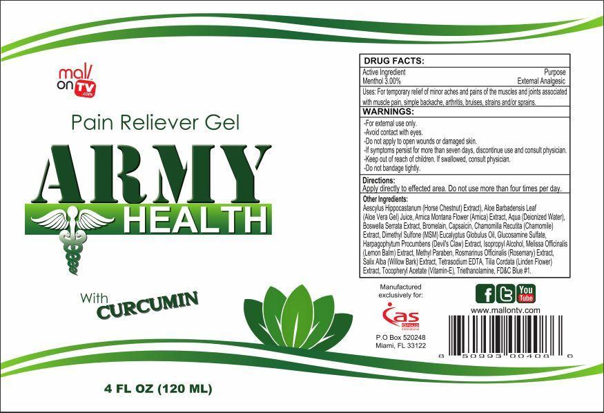 Army Health Pain Reliever Information, Side Effects