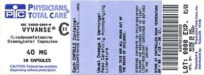 Vyvanse 40 MG Oral Capsule - Pill Identification