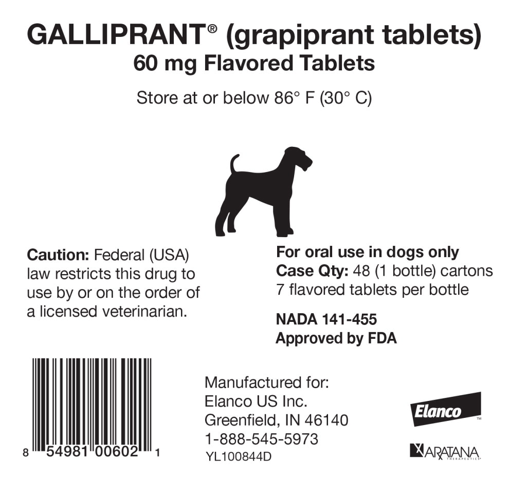 Dailymed Galliprant Grapiprant Tablet