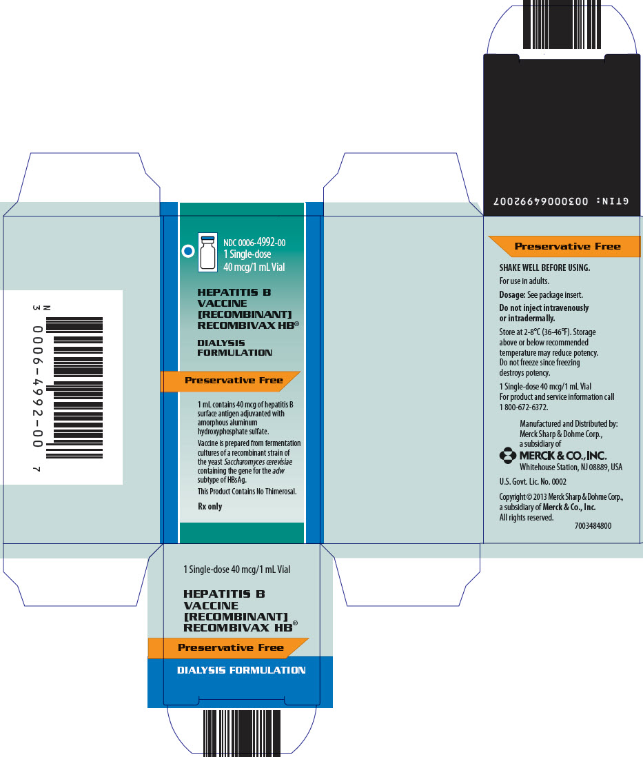 PRINCIPAL DISPLAY PANEL - 1 mL Vial Carton - 4992