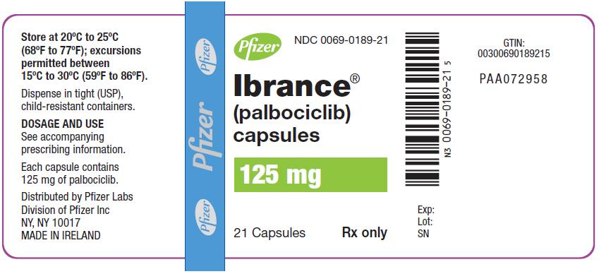 Wizmed Drug Label for Pfizer Laboratories Div Pfizer Inc - palbociclib NDC number 0069-0188-21