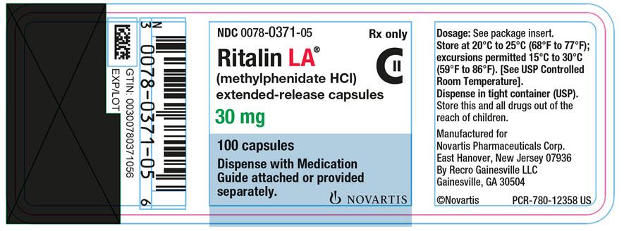 Dailymed Ritalin La Methylphenidate Hydrochloride