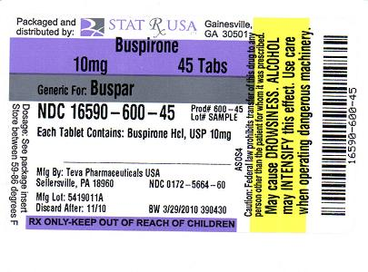 Buspirone Information, Side Effects, Warnings and Recalls