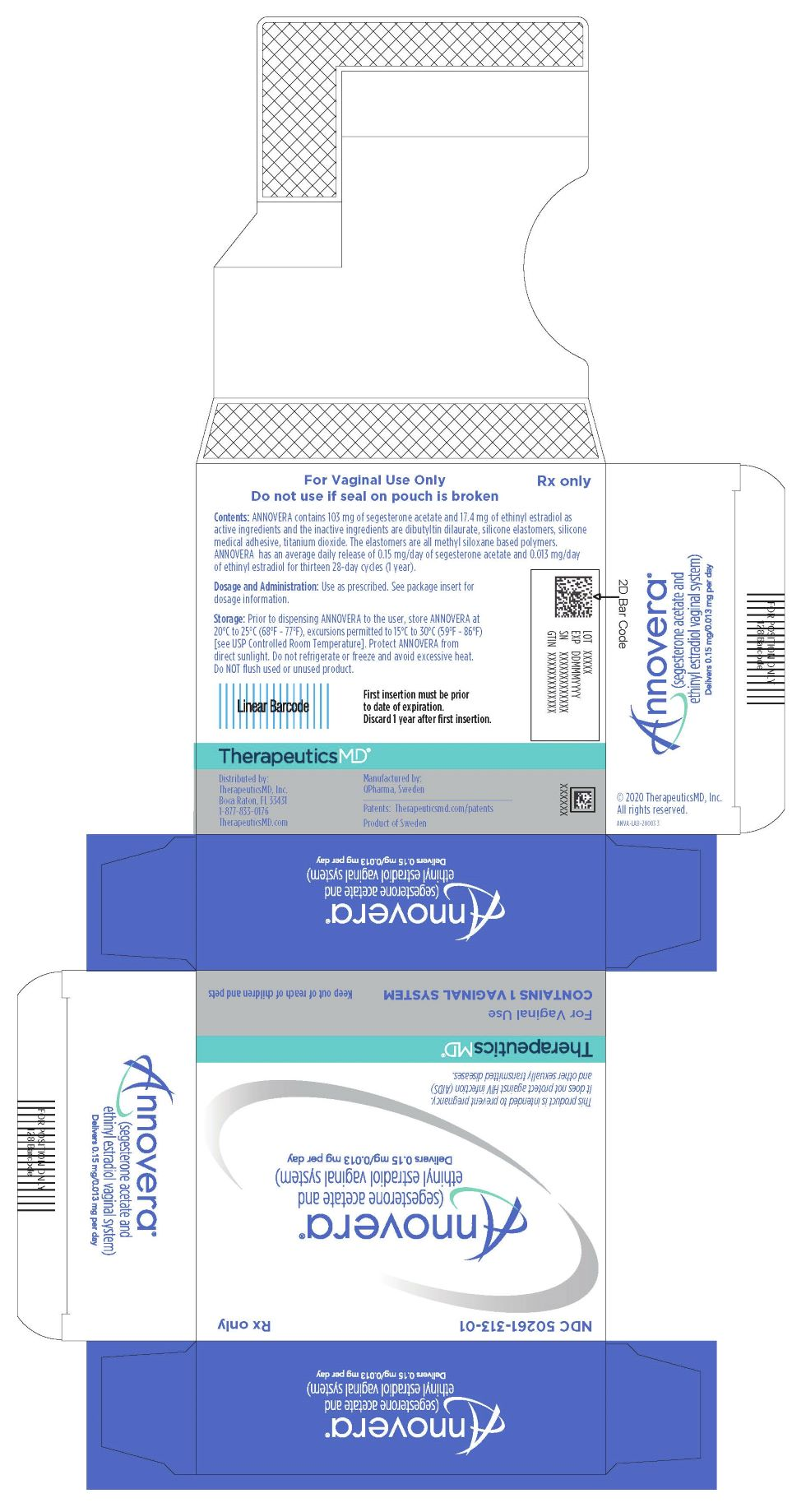 Rx Item-ANNOVERA segesterone ac/ethin estradiol  VAG RING .15-.013MG VAGINAL SYS