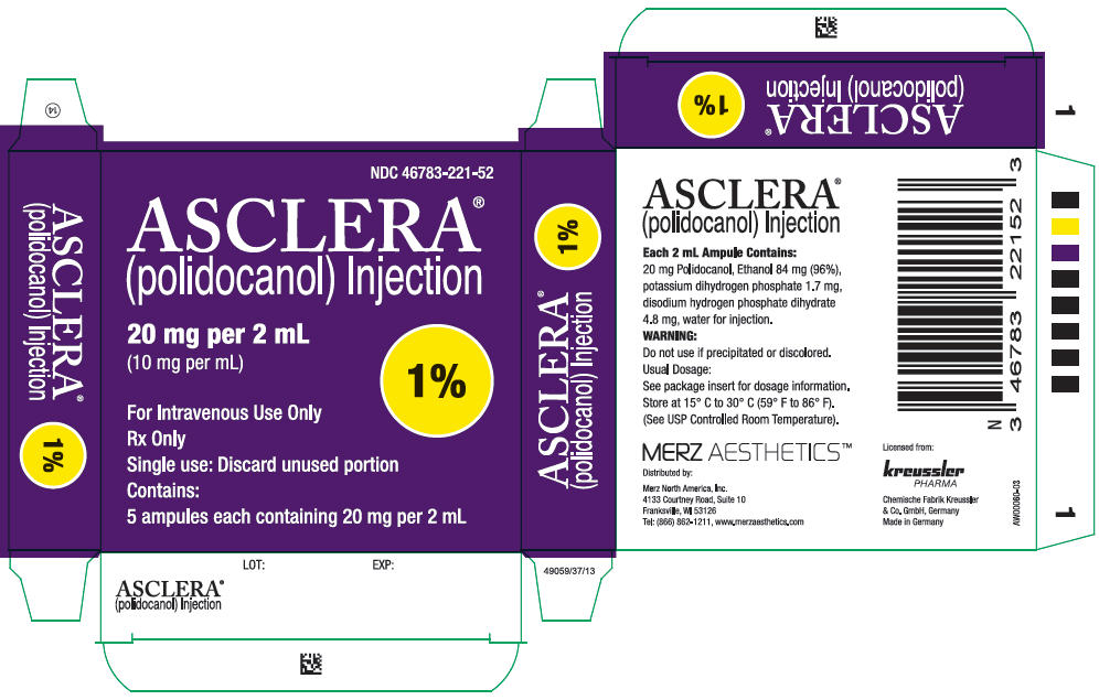 RX ITEM-ASCLERA Polidocanol AM 0.5% 5MG/ML 5X2ML DIR