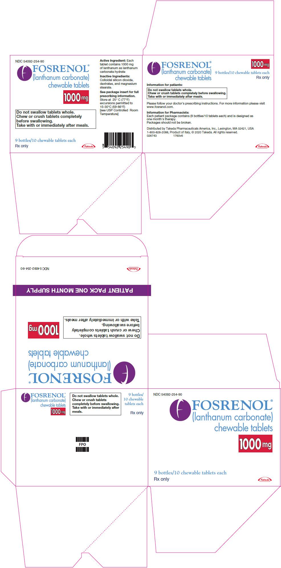 DailyMed - FOSRENOL- lanthanum carbonate tablet, chewable