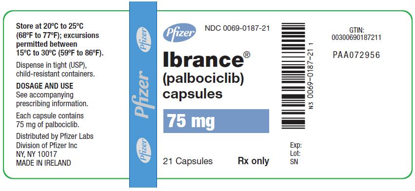 RX ITEM-Ibrance palbociclib 125Mg Cap 21 By Pfizer Pharma
