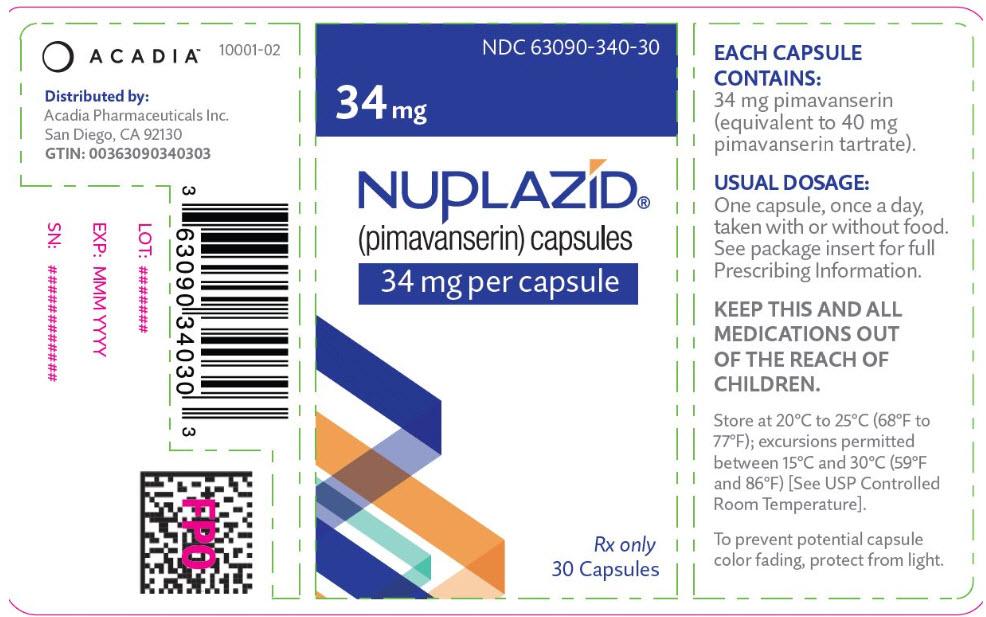 Rx Item-Nuplazid Pimavanserin Tartrate 34mg Tabs 30/Bottle By Acadia Pharma