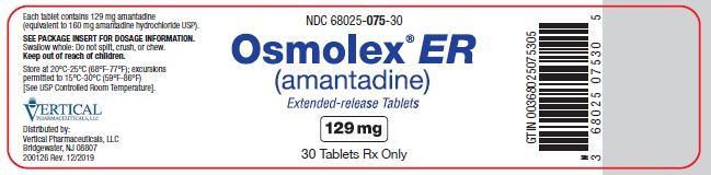 OSMOLEX ER 190MG 30 TAB By Vertical Pharma  NDC Code(s): 68025-075-07, 68025-075-14, 68025-075-30, 68025-075-90, view more