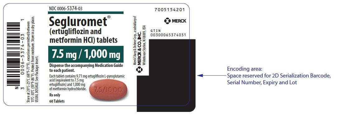 SEGLUROMET TB 7.5-1000MG 60UU
