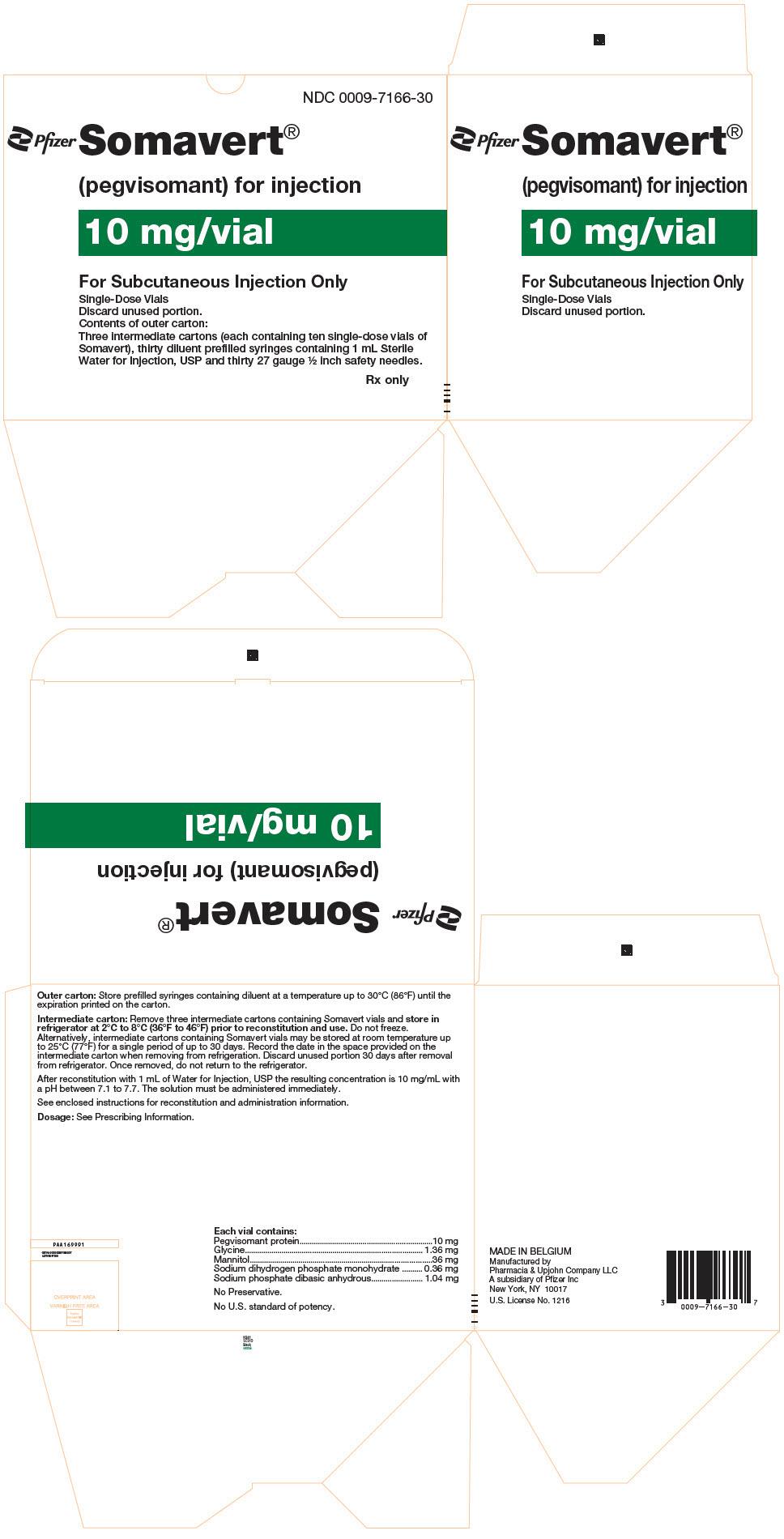 RX ITEM-Somavert 20Mg (20 Mg) Powder Vial 1X1 Ea