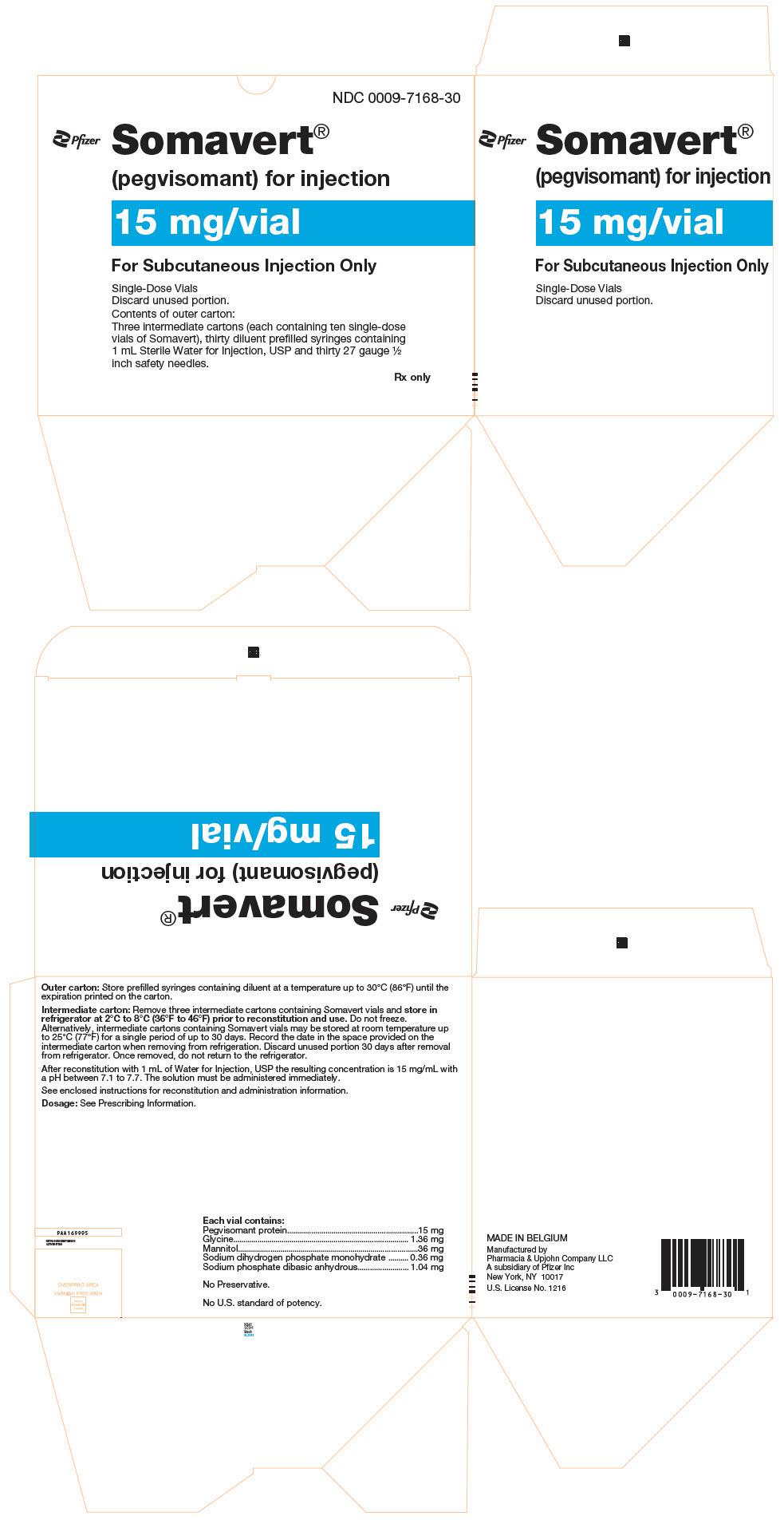 RX ITEM-Somavert 30Mg 30Mg) Powder Vial 1X1 Ea