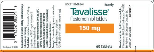RX ITEM-Tavalisse FOSTAMATINIB DISODIUM 150Mg Tablets 1X60 Ea