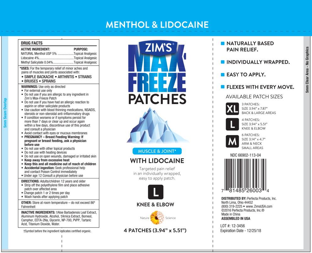 Lidocaine menthol patch 4 5 for Salonpas lidocaine 4 patch