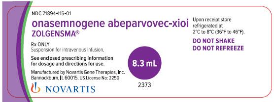 Rx Item-Zolgensma- Onasemnogene Abeparvovec-Xioi Susp For IV 8.3ml By Novartis