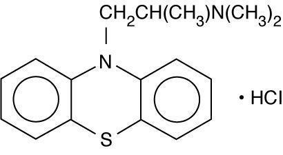This is an image of the structural formula of promethazine hydrochloride.
