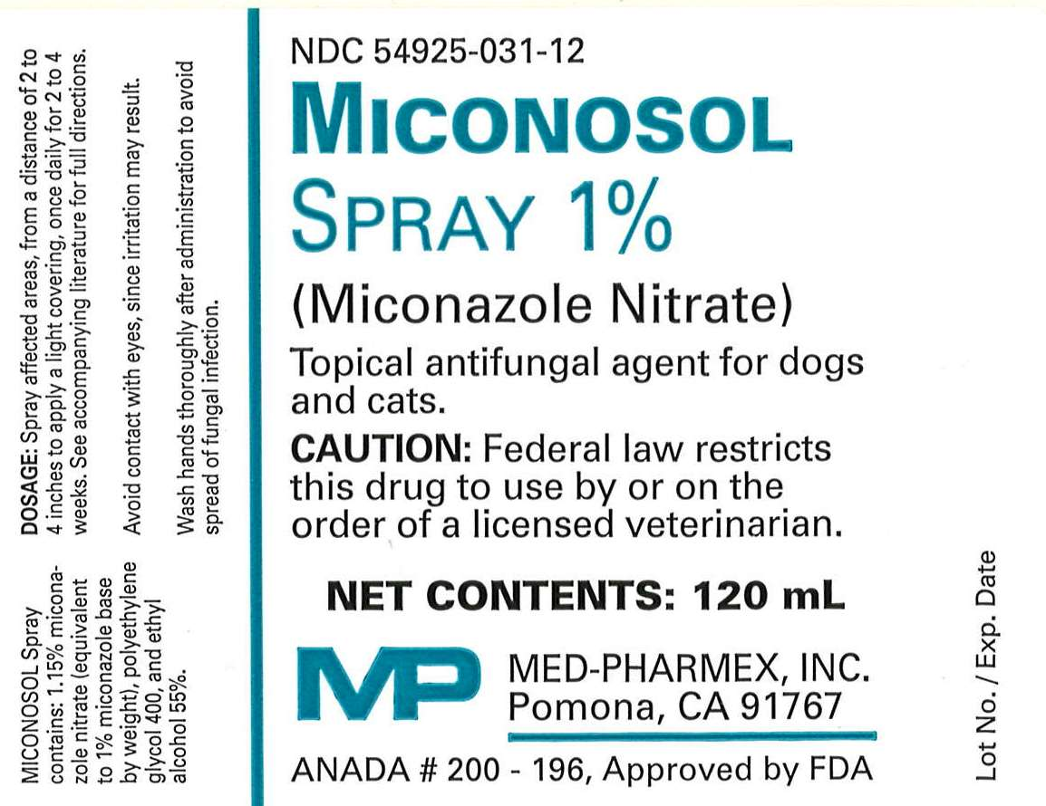 Miconosol Spray 120mL Label