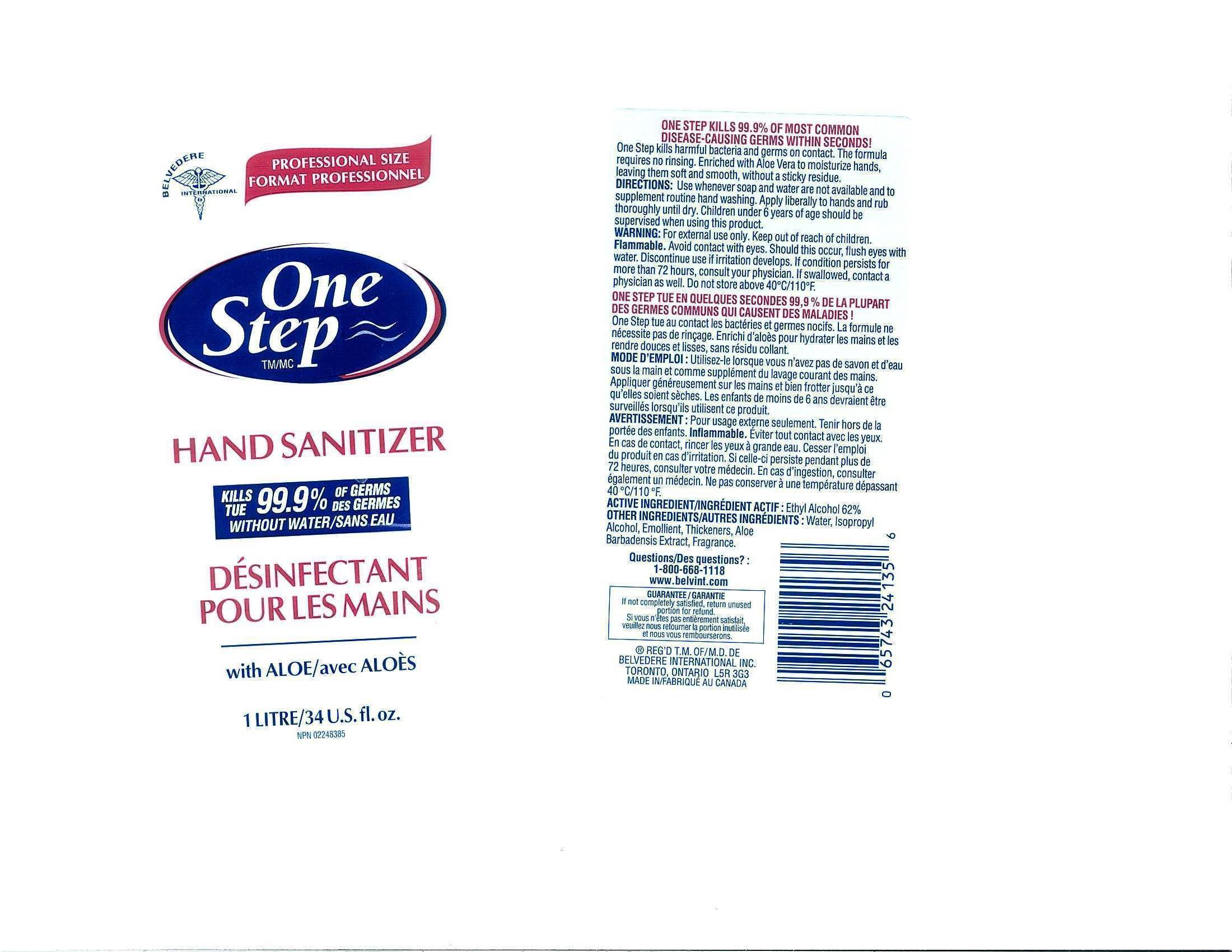 IMAGE OF FRONT AND BACK LABEL 1L