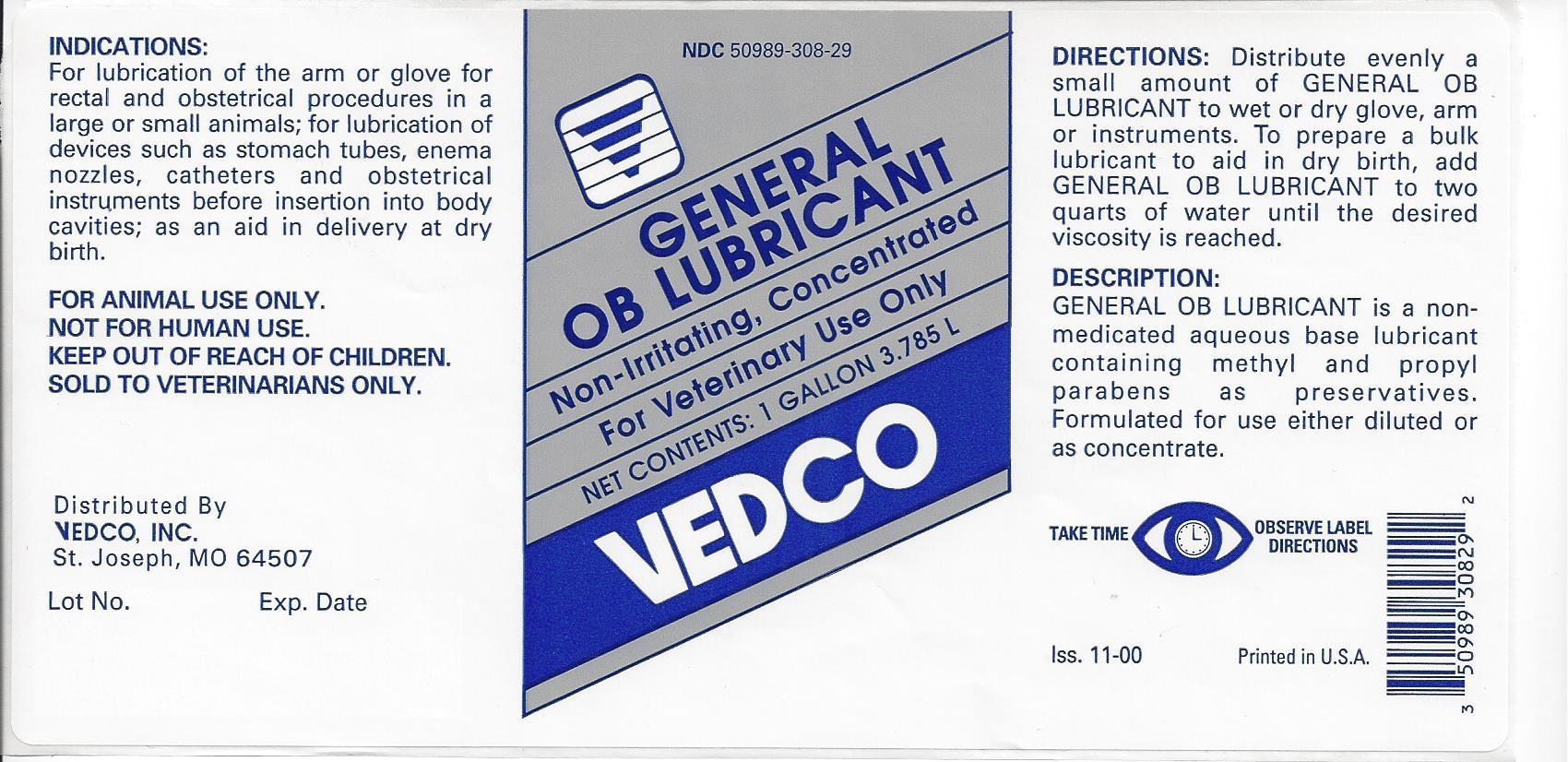Vedco General OB Lubricant