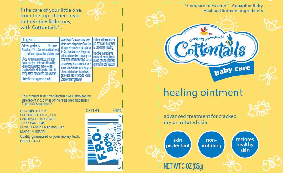Baby Care Healing Ointment Label