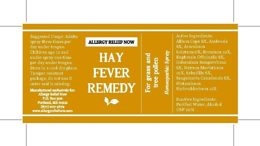 Allergy Now Hay Fever Remedy