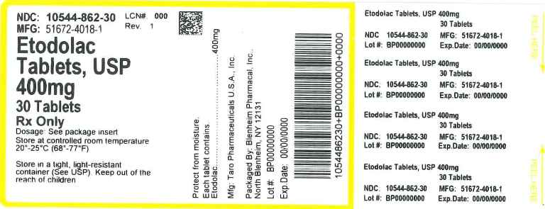 Label Graphic- Etodolac 400mg 30s Tablets