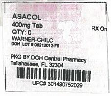 Asacol Bottle label