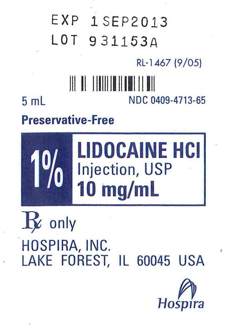 Lidocaine Pack Label