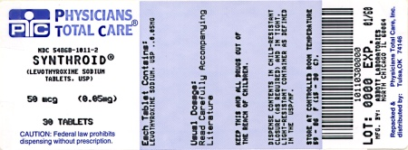 image of 0.05 mg package label