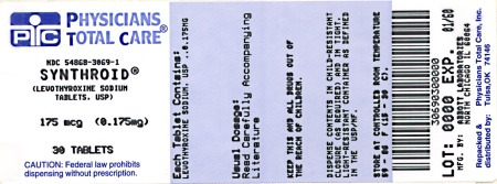 image of 0.175 mg package label