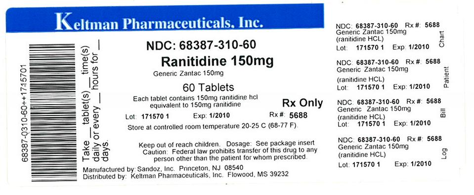 ranitidine hydrochloride 150 mg tablet label