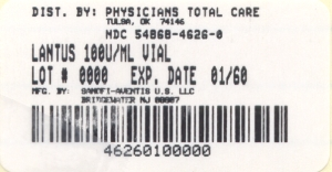 image of 1 count 10 mL Vial label