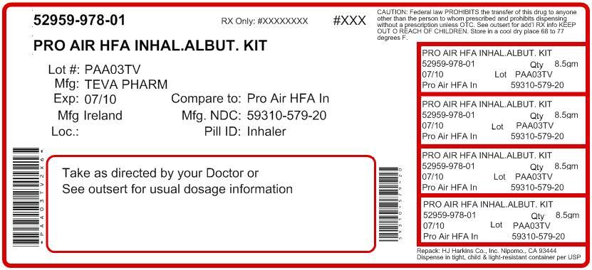 DailyMed - PROAIRHFA HFA- albuterol sulfate aerosol, metered