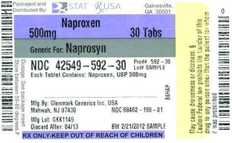 Naproxen 500mg Label Image