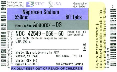 Naproxen Sod 550mg Label Image