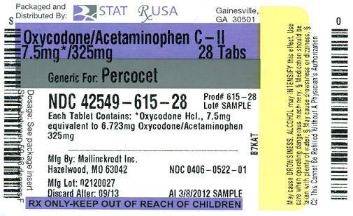 Percocet (Oxycodone and Acetaminophen).