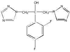 Structural Formula of Fluconazole