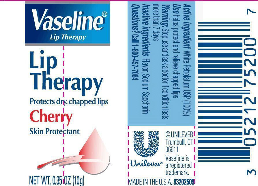 Vaseline Lip Therapy Cherry 0.35 oz PDP
