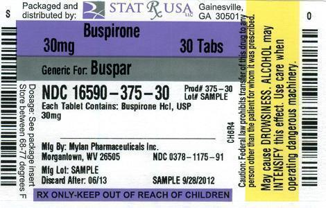 BUSPIRONE 30 MG LABEL Image