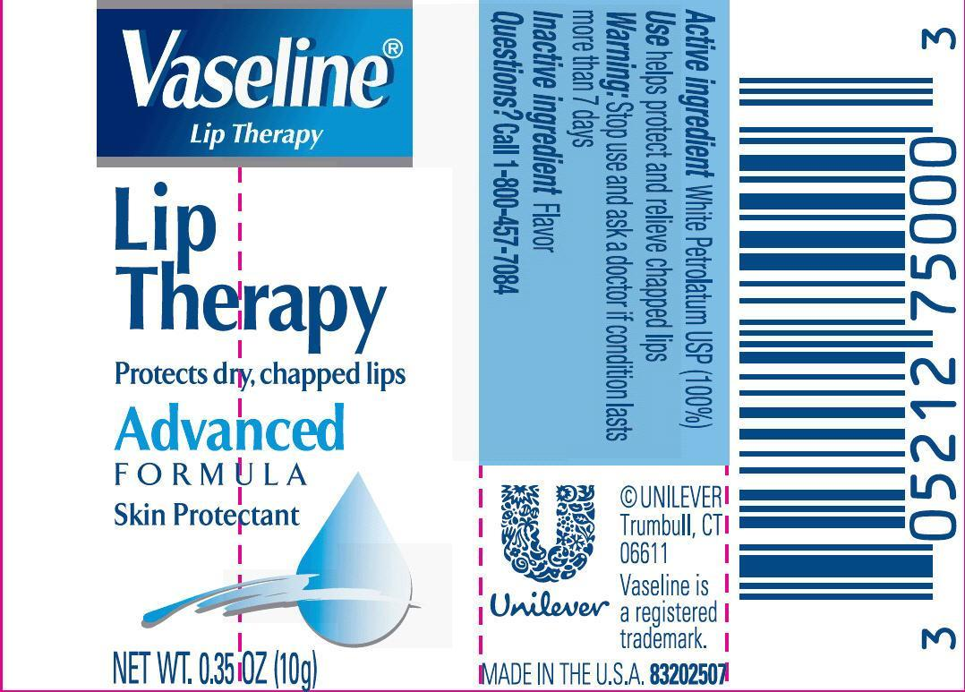 Vaseline Lip Therapy Advanced 0.35 oz PDP