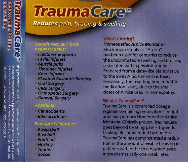 TraumaCare2 label